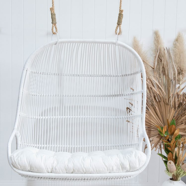 Rattan Hanging Chair White