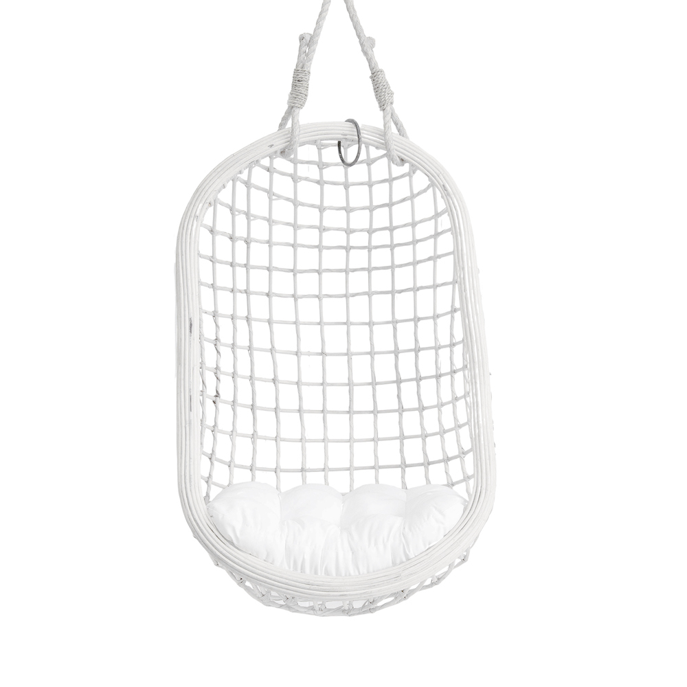 Cocoon Single Hanging Chair – White