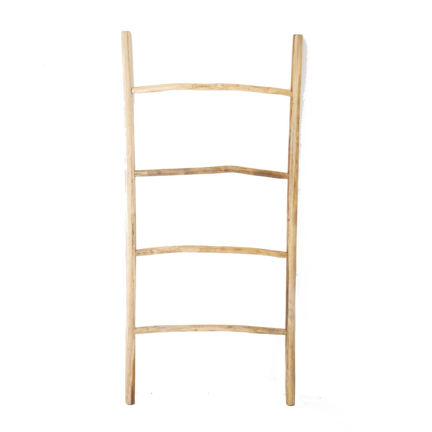Teak Double Ladder
